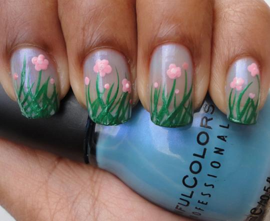 flower fields nails