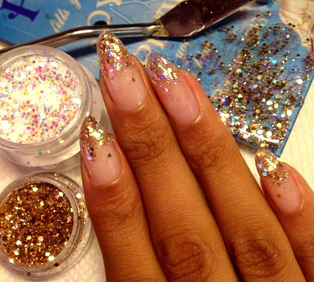 glitter nail tips