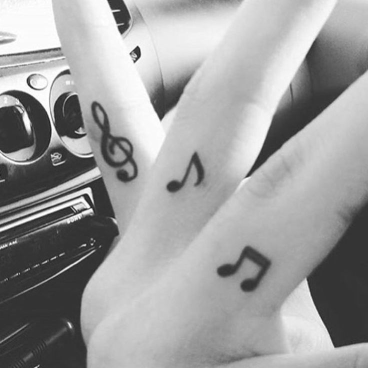 music note symbols tattoo