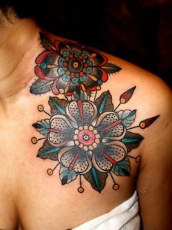 flower tattoo pattern