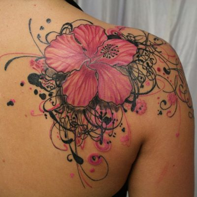 hibiscus flower tattoo