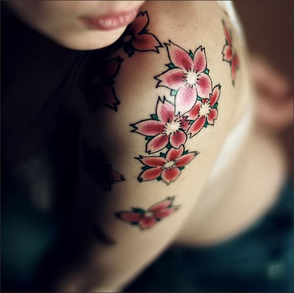 sakura flower tattoo
