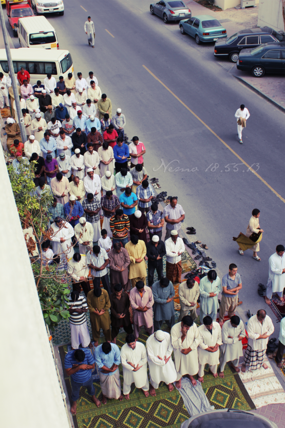 friday prayer in street