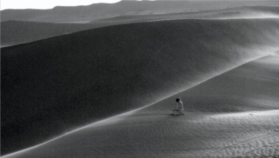 namaz prayer in Egyptian desert