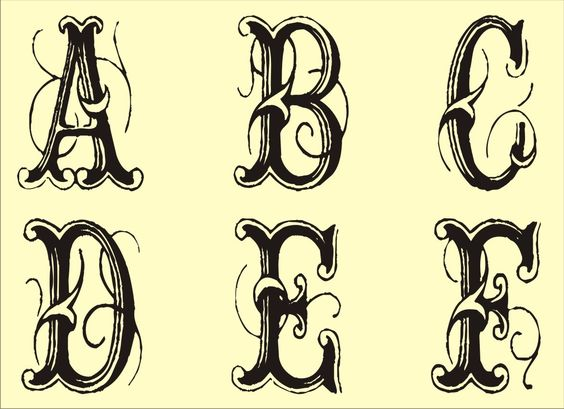 Free Printable Alphabet Tattoo Patterns