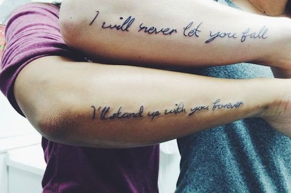 Best Friend Quote tattoo
