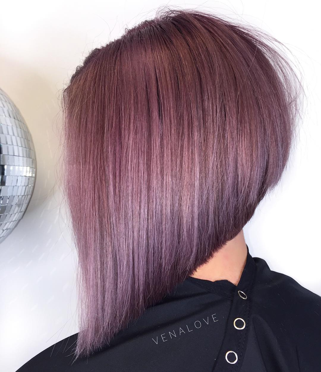 balayage ombre ashy haircut