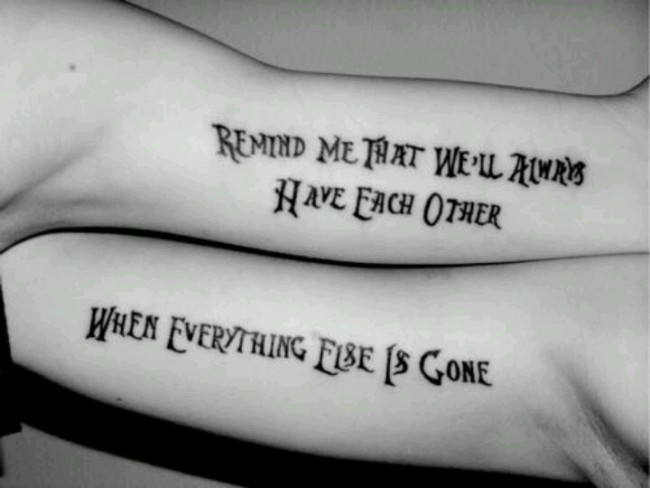 best friends quote tattoo