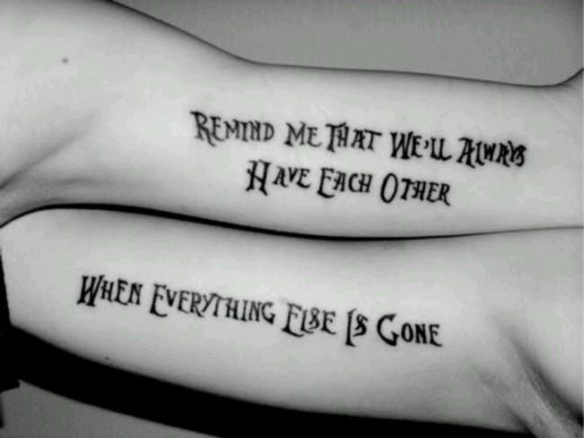 best friends quote tattoo