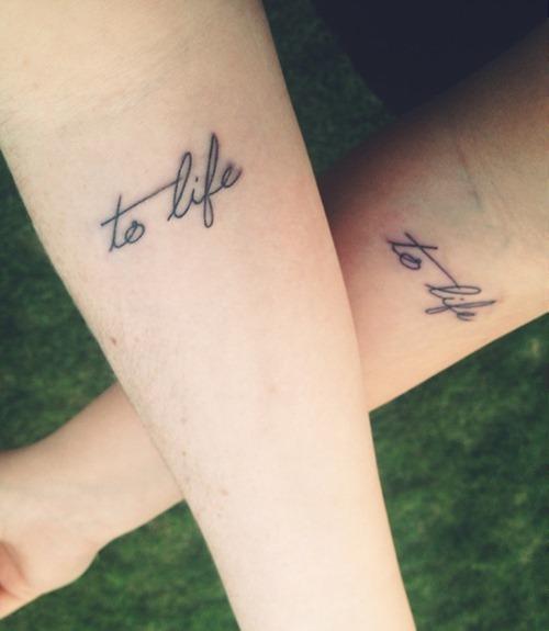 best matching friendship quote tattoo