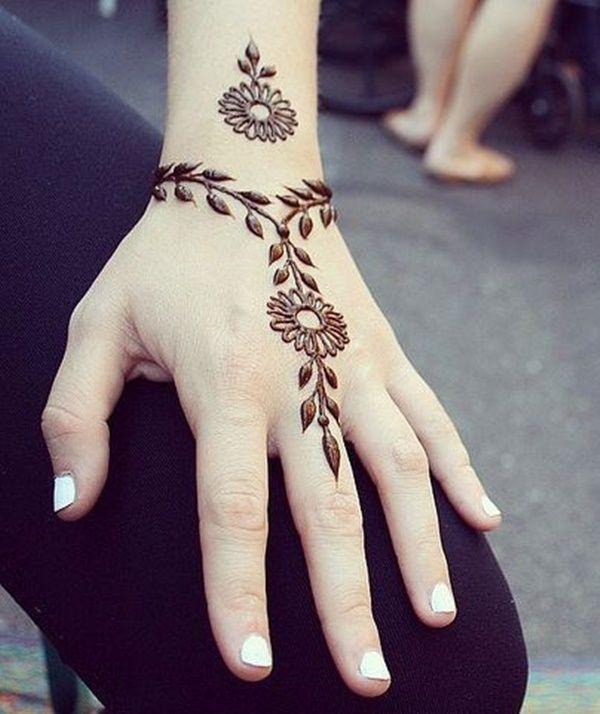 easy simple mehndi henna design for hands