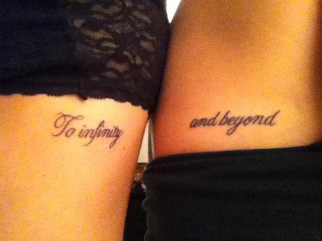 friendship quote tattoo