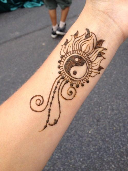 yin-yang henna design