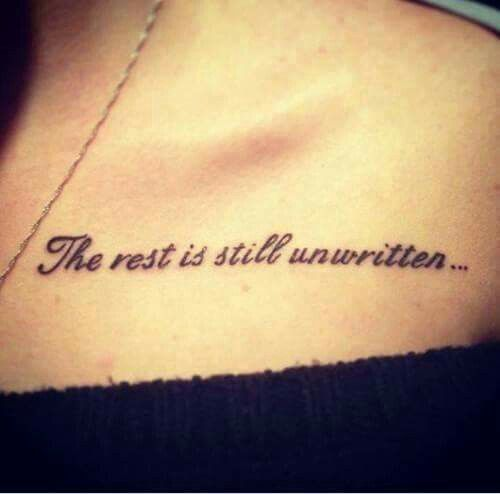 collarbone quote tattoos
