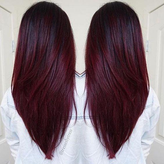 straight v hairstyle long haircut