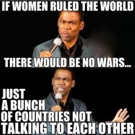 Oh no didn'tyou just make fun of women