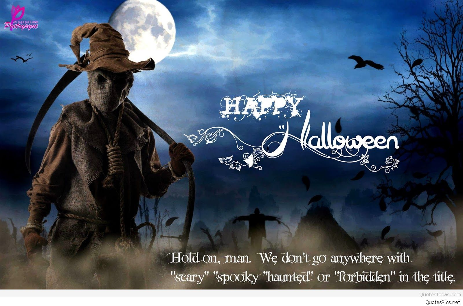 Scary-Halloween-haunted-monster-quote-wallpaper