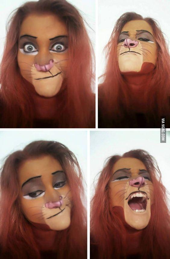 Simba from lion king makeup theme for Halloween