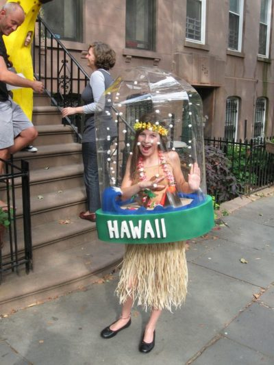 Snow Globe creative kids costume idea for halloween