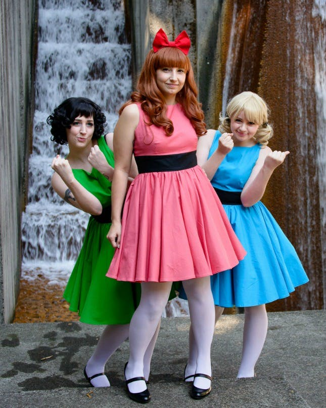 The powerful Powerpuff Girls group halloween costume
