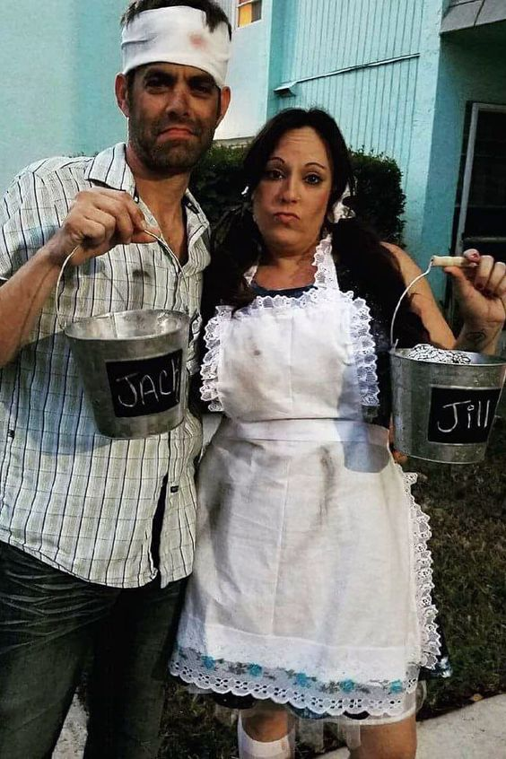creative Couples Costumes for Halloween - Jack and Jill