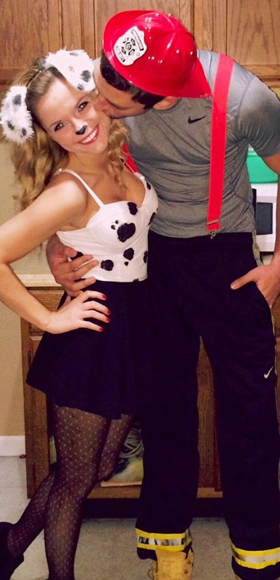 diy cute-funny Dalmatians and Firemen Halloween costume