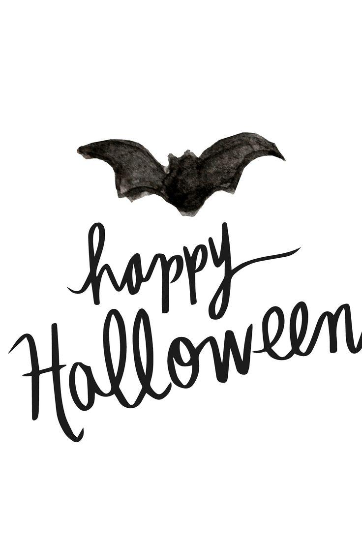 happy-halloween-painted-bat-phone-wall-image