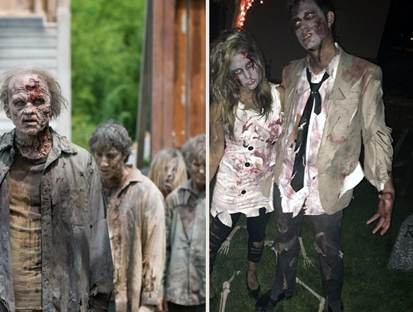 Cool Zombie The Walking Dead Halloween Costumes