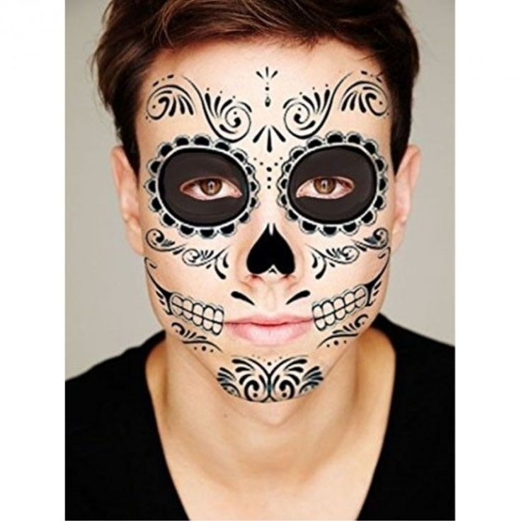 Black Skeleton artistic face paint