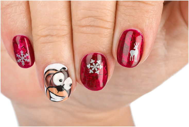Christmas pattern nail art