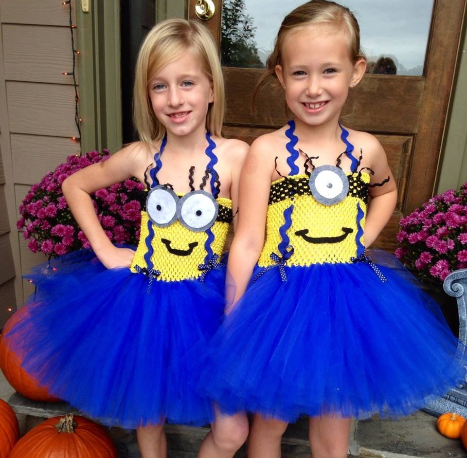 Despicable Me Minion Twin Siblings Halloween Costume ideas