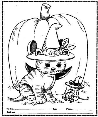 Free Cute Printable Halloween Coloring Pictures for Kids