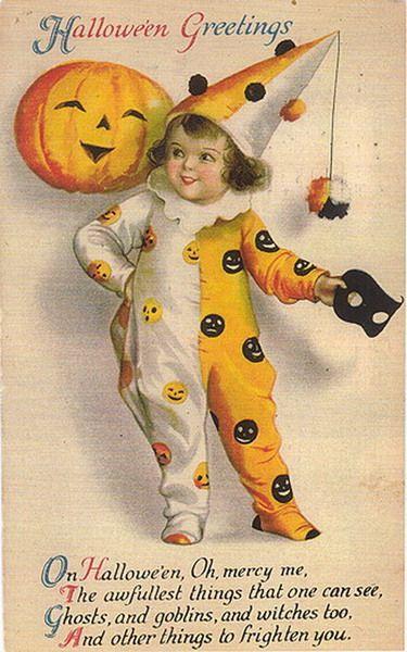 Free cute Vintage Halloween Postcards Images
