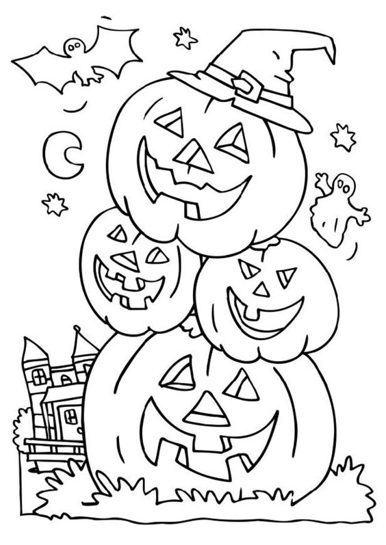 72+ Halloween Printable Coloring Pages Customizable PDF | 797x564