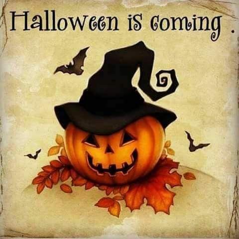 Halloween is coming vintage card image