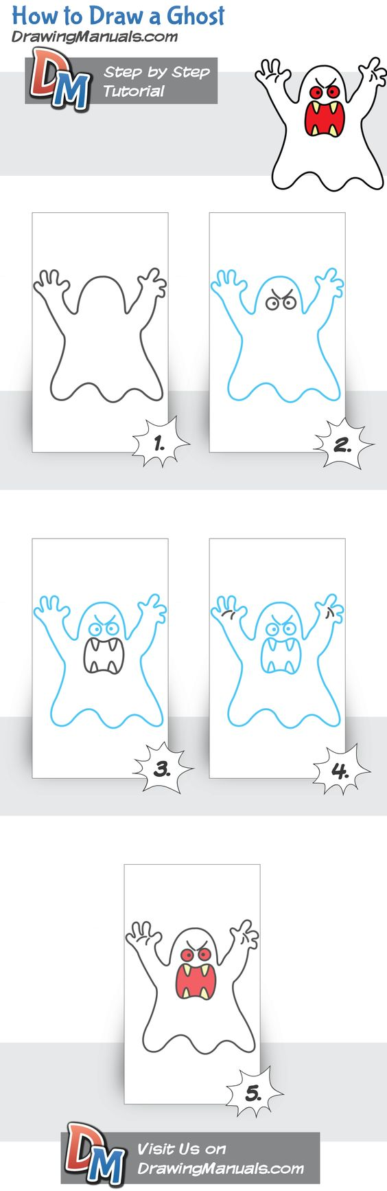 Haww! Scary ghost drawing