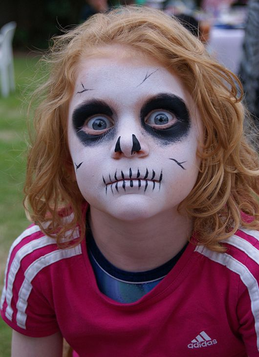 Scary Makeup idea for kids