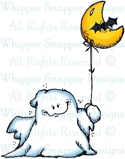 Spooky Ghost and Balloon Drawing