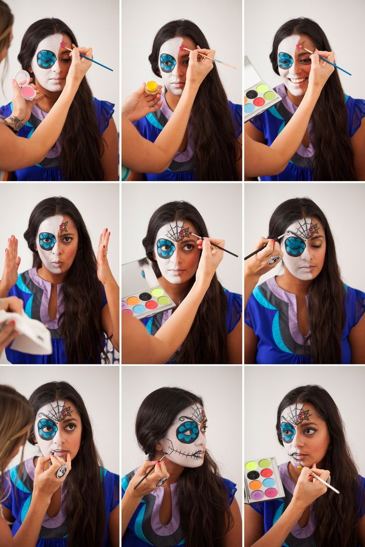 Traditional Mexican Face paint idea