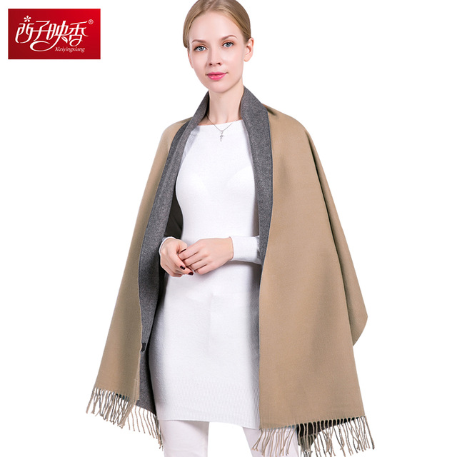 Women Winter Scarves Trend Double Color Scarf Stoles