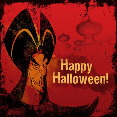 happy halloween retro card
