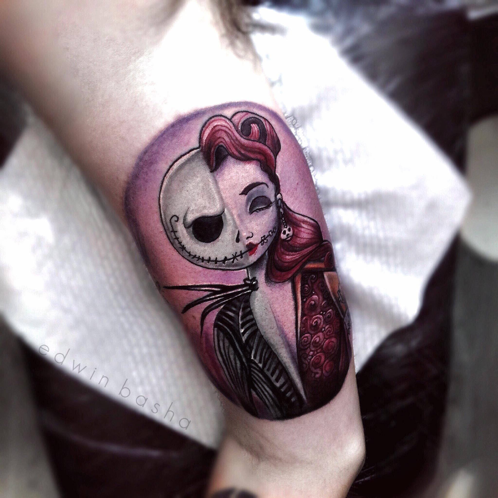 jack and sally tattoos art