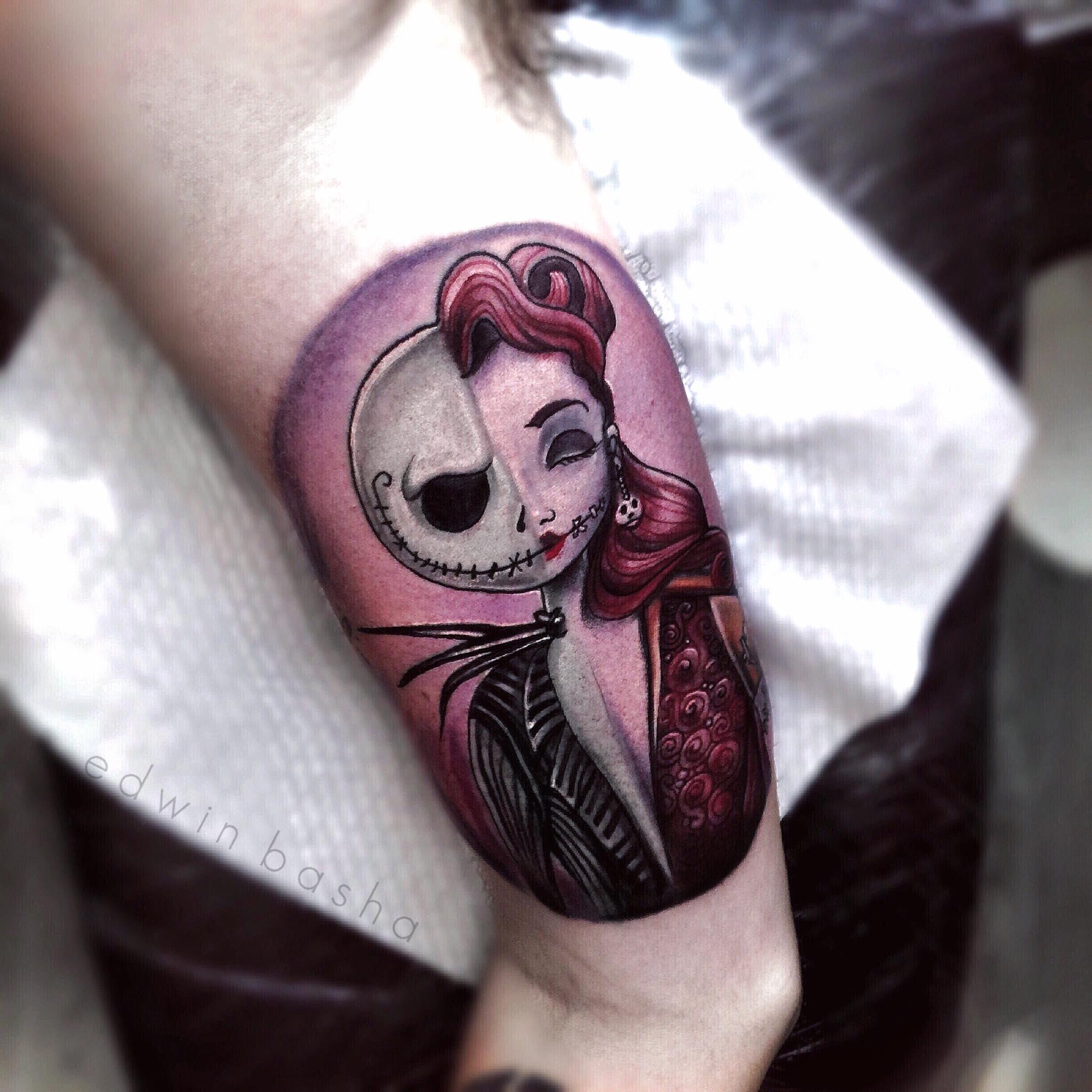jack and sally tattoos art