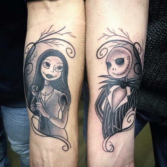 simple-nightmare-before-christmas-hand-tattoo