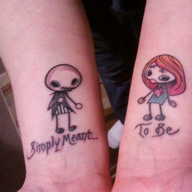 small jack and sally tattoos