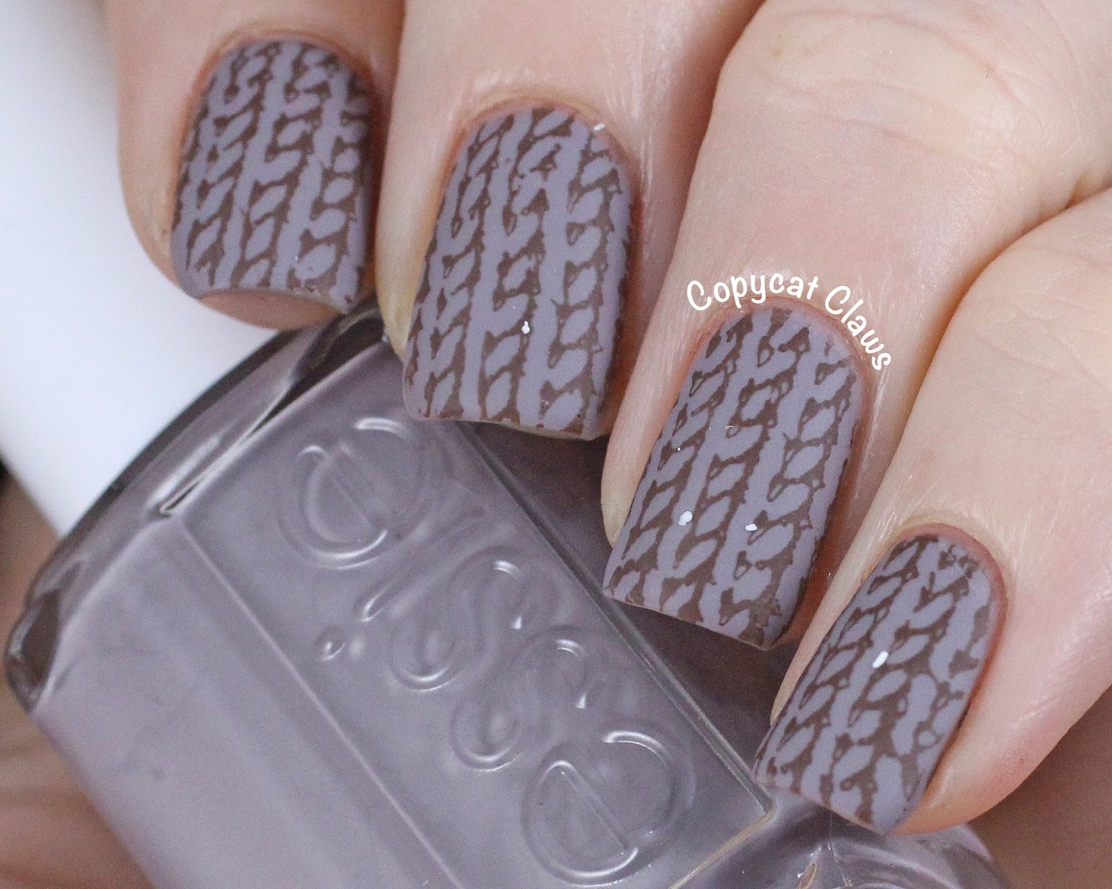 Knitted Sweater Nail Stamping