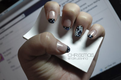 Simple Black Winter Nails