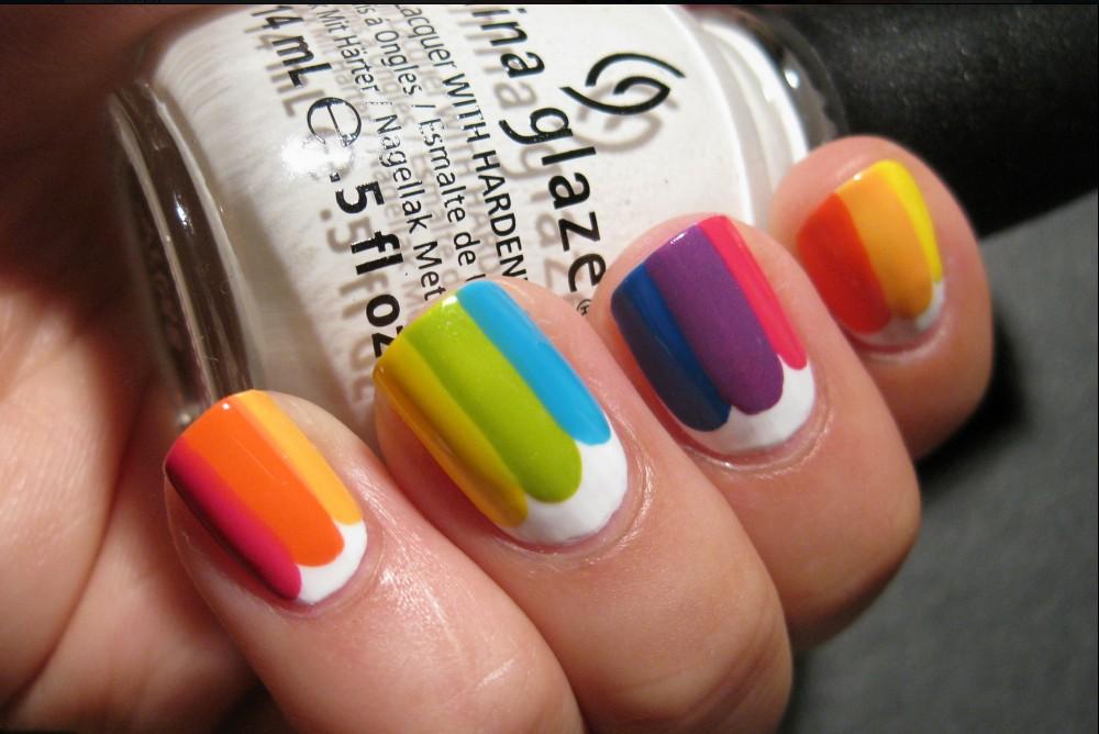 Summer Rainbow Nail Art 2017-2018