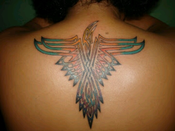 indian american cultural eagle symbol tattoo