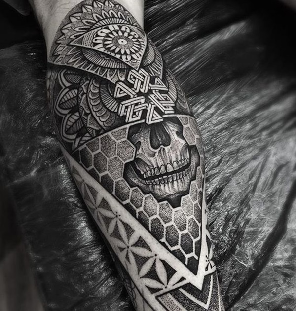 native american skull tattoo art